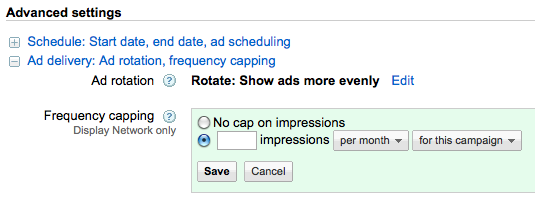 Frequency Capping AdWords