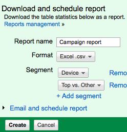segment device report
